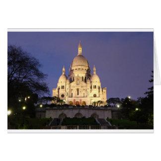 Sacre Coeur at night Card
