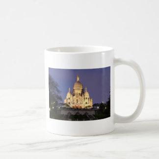 Sacre Coeur at night Coffee Mugs