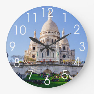 Sacre Coeur Basilica, French Architecture, Paris Large Clock
