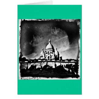 Sacre Coeur BW Card