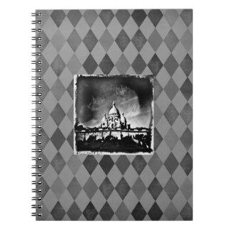 Sacre Coeur BW Notebook