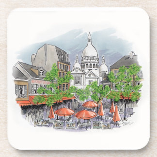 Sacre Coeur cork coaster set