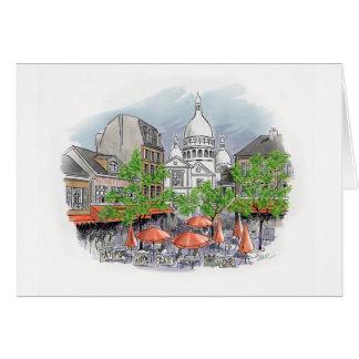 Sacré Coeur greeting card
