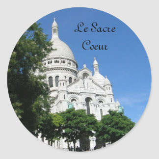 Sacre Coeur, Le Sacre Coeur Round Sticker
