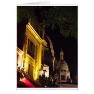 Sacre Coeur, Paris at night Card