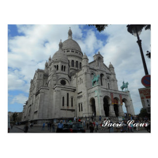 Sacré-Cœur Postcard With Text