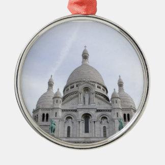 Sacre Coeur Silver-Colored Round Decoration