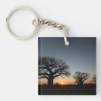 Sacred Baobabs Double-Sided Square Acrylic Key Ring