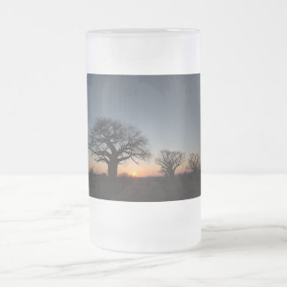 Sacred Baobabs Frosted Glass Beer Mug