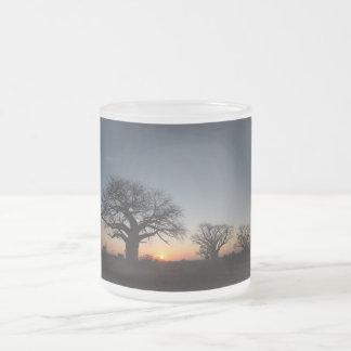 Sacred Baobabs Frosted Glass Coffee Mug
