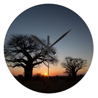 Sacred Baobabs Large Clock
