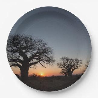 Sacred Baobabs Paper Plate