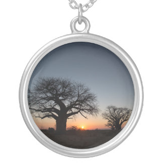 Sacred Baobabs Silver Plated Necklace