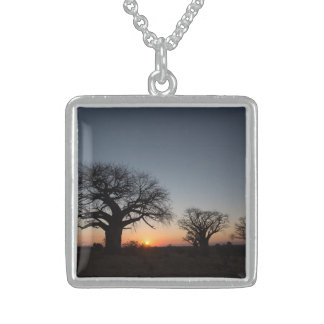 Sacred Baobabs Sterling Silver Necklace