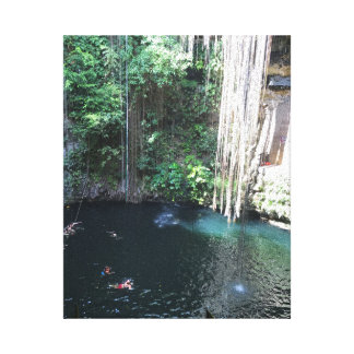 Sacred Blue Cenote, Ik Kil, Mexico #2 Canvas