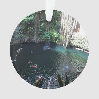 Sacred Blue Cenote, Ik Kil, Mexico #2 Ornament