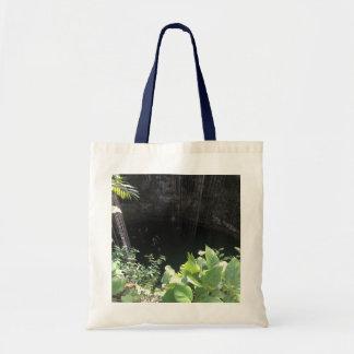 Sacred Blue Cenote, Ik Kil, Mexico #3 Tote Bag