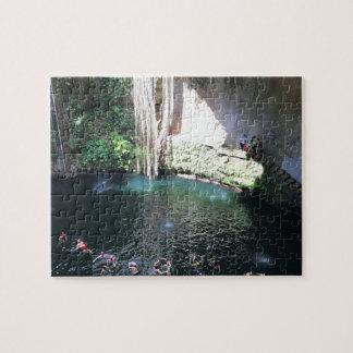 Sacred Blue Cenote, Ik Kil, Mexico#4 Jigsaw Puzzle