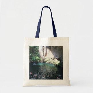 Sacred Blue Cenote, Ik Kil, Mexico #4 Tote Bag