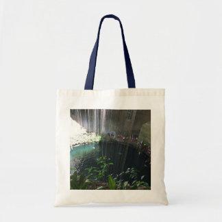 Sacred Blue Cenote, Ik Kil, Mexico Tote Bag