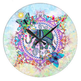 Sacred Elephant Large Clock