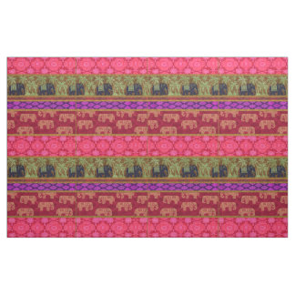 Sacred Elephants Fabric
