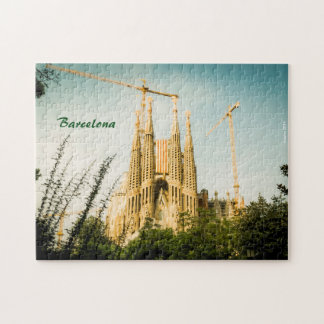 Sacred Family with Catalonia's flag Jigsaw Puzzle