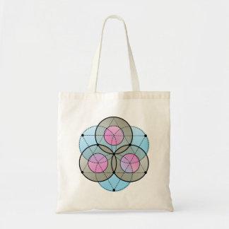 Sacred Geometrics Triangles and Circles Tote Bag