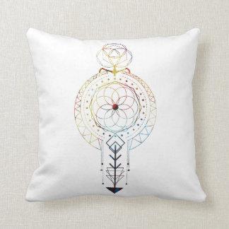 "Sacred Geometry Boho Throw Pillow 16"" x 16"""