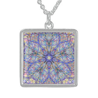 "Sacred Geometry ""Cheers"" by MAR Sterling Silver Necklace"
