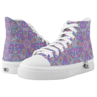 "Sacred Geometry ""Chess Queen"" High tops by MAR"