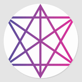 Sacred Geometry Classic Round Sticker