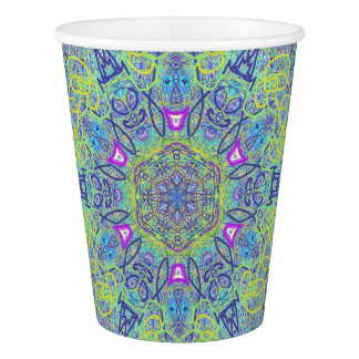 """Sacred Geometry """"Clowns"""" Paper cup by MAR"""