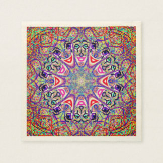 "Sacred Geometry ""Clowns"" Paper Napkins by MAR Disposable Napkin"