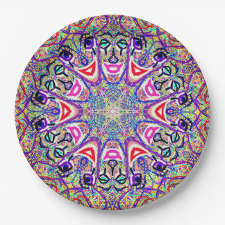 """Sacred Geometry """"Clowns"""" Paper plates by MAR"""