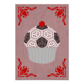 sacred geometry cupcake 9 cm x 13 cm invitation card