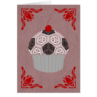 sacred geometry cupcake card