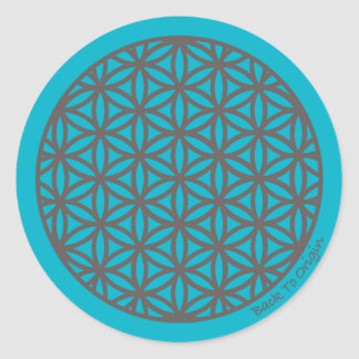 Sacred Geometry Flower of Life Round Sticker
