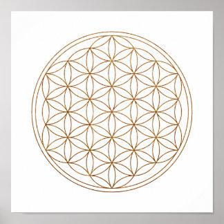 Sacred Geometry Flower Of Life (V-Henna) Poster