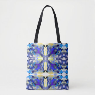 "Sacred Geometry ""Fog"" Tote Bag by MAR"
