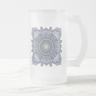 Sacred Geometry Frosted Glass Beer Mug