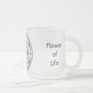 Sacred Geometry Frosted Glass Mug