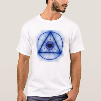 Sacred Geometry - Glowing Metatron (Blue) T-Shirt
