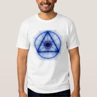 Sacred Geometry - Glowing Metatron (Blue) Tshirts
