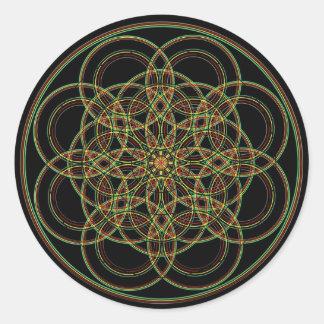 Sacred Geometry -Hand Drawn Round Sticker