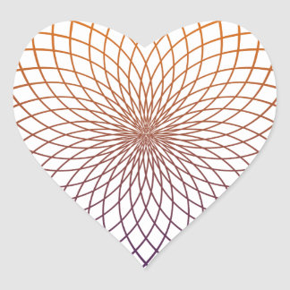 Sacred Geometry Heart Sticker
