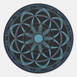 Sacred Geometry Mandala - Bliss Round Sticker