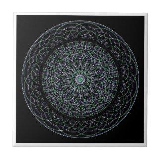Sacred Geometry Mandala Ceramic Tile