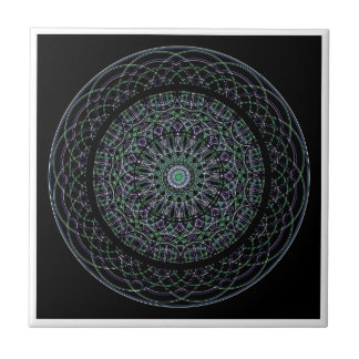 Sacred Geometry Mandala Small Square Tile