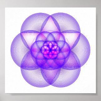 Sacred Geometry Mandala - The Genesis Pattern Poster